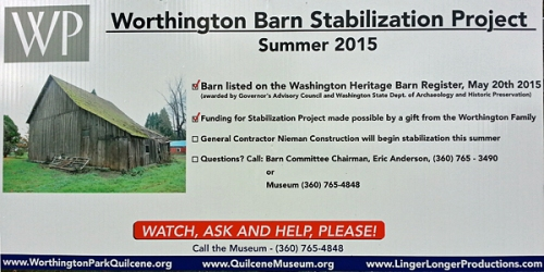 The Barn benefited from a stabilization project, thank you to Ellen Jenner Worthington and Jim Worthington for their generous support and to Eric Anderson for designing the system.