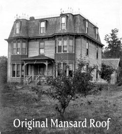 Original mansard roof with 3rd-floor ballroom