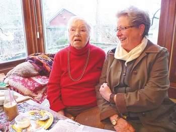 Eileen Worthington and Carol Christiansen in 2011