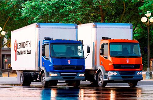 Powerful and durable line of modern Kenworth diesel trucks.