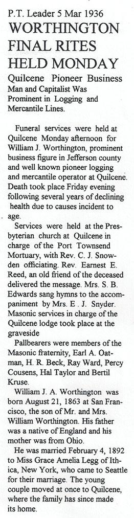 """Obituary for William Jenner """"WJ"""" Worthington"""