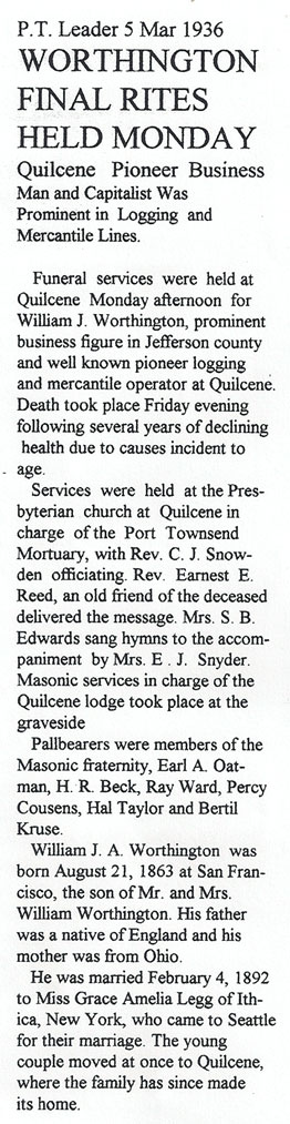 "Obituary for William Jenner ""WJ"" Worthington"