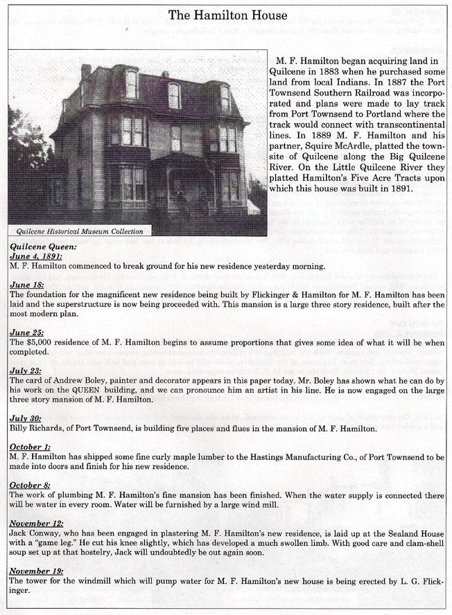 Hamilton House - Worthington House In History