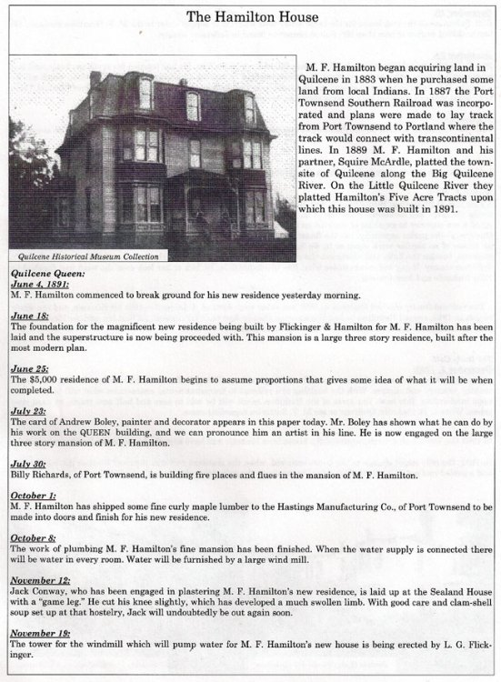 Hamilton House - Worthington House In History